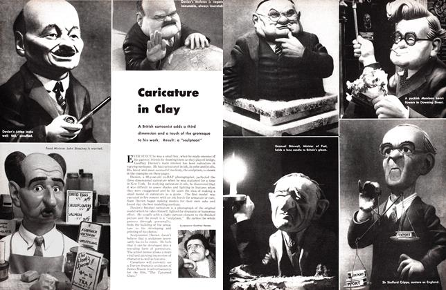 Article Preview: Caricature in Clay, October 1947   Maclean's