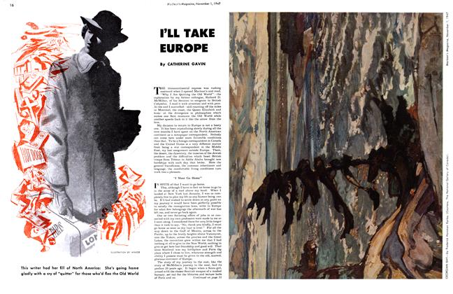 Article Preview: I'LL TAKE EUROPE, November 1947 | Maclean's
