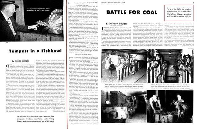Article Preview: Tempest in a Fishbowl, November 1947 | Maclean's