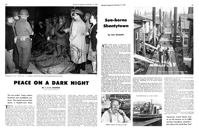 Article Preview: PEACE ON A DARK NIGHT, November 1947 | Maclean's