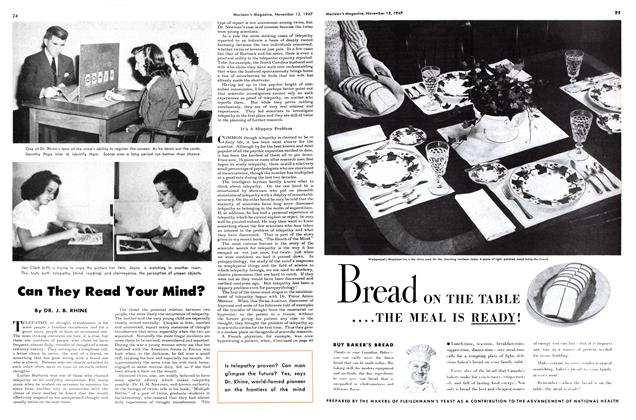 Article Preview: Can They Read Your Mind?, November 1947 | Maclean's
