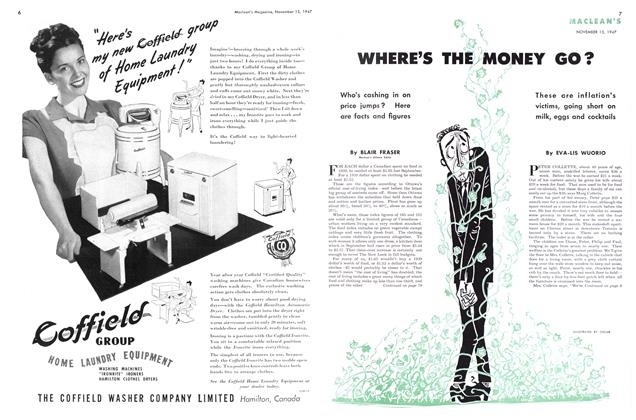 Article Preview: WHERE'S THE MONEY GO?, November 1947 | Maclean's