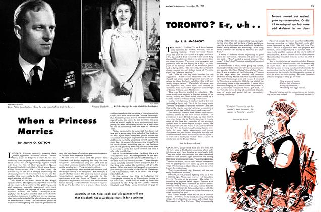 Article Preview: TORONTO? E-r, u-h.., November 1947 | Maclean's