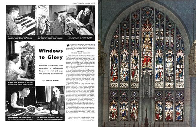 Article Preview: Windows to Glory, December 1947 | Maclean's