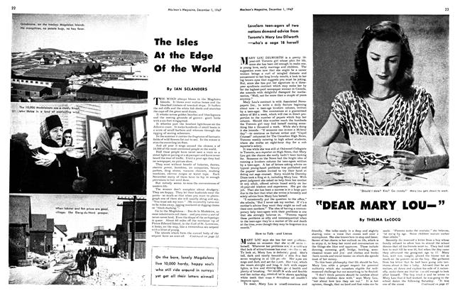 Article Preview: The Isles At the Edge Of the World, December 1947 | Maclean's