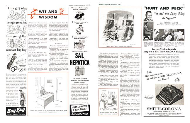 Article Preview: WIT AND WISDOM, December 1947 | Maclean's
