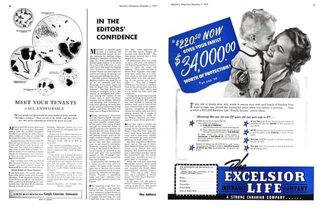 Article Preview: IN THE EDITORS' CONFIDENCE, December 1947 | Maclean's