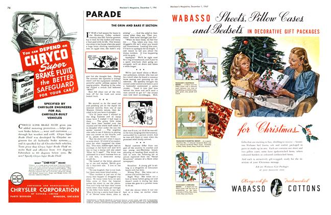 Article Preview: PARADE, December 1947 | Maclean's