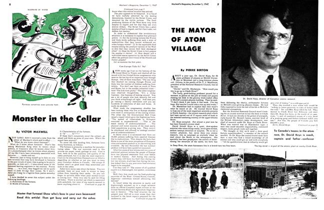 Article Preview: Monster in the Cellar, December 1947 | Maclean's