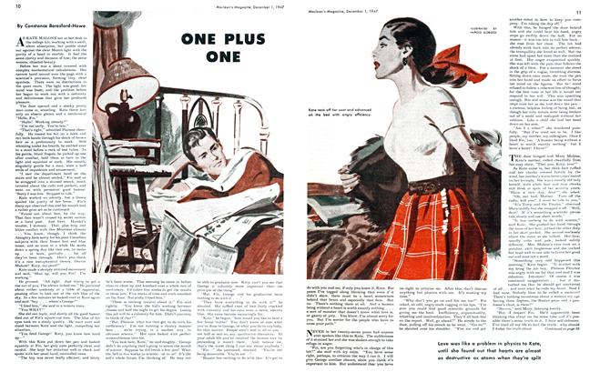 Article Preview: ONE PLUS ONE, December 1947 | Maclean's