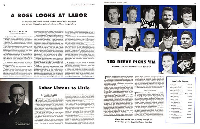 Article Preview: Labor Listens to Little, December 1947 | Maclean's