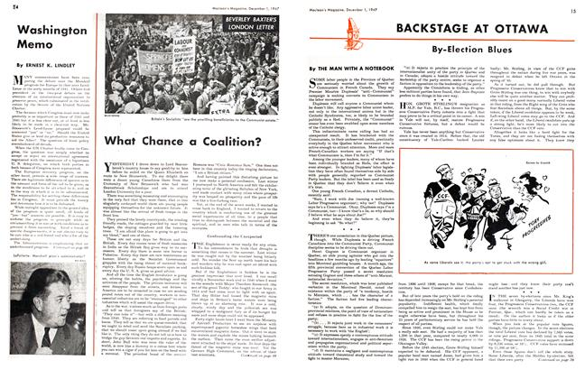 Article Preview: What Chance a Coalition?, December 1947 | Maclean's