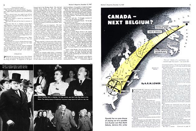Article Preview: CANADA — NEXT BELGIUM?, December 1947 | Maclean's