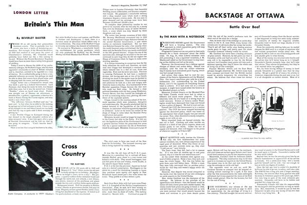 Article Preview: BACKSTAGE AT OTTAWA, December 1947 | Maclean's