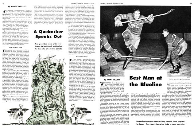 Article Preview: Best Man at the Blueline, January 1948 | Maclean's