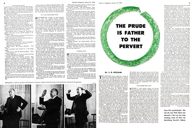 Article Preview: THE PRUDE IS FATHER TO THE PERVERT, January 1948 | Maclean's