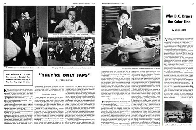Article Preview: Why B.C. Draws the Color Line, February 1948 | Maclean's