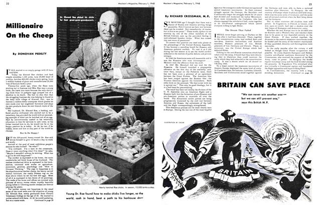 Article Preview: BRITAIN CAN SAVE PEACE, February 1948 | Maclean's