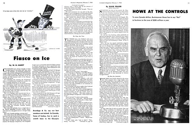 Article Preview: HOWE AT THE CONTROLS, February 1948 | Maclean's