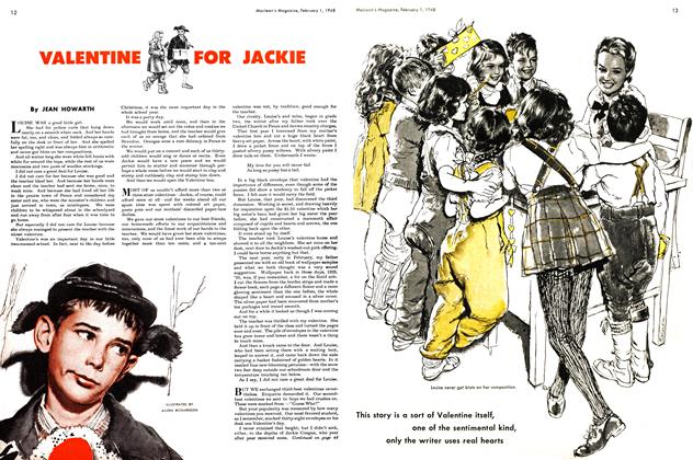Article Preview: VALENTINE FOR JACKIE, February 1948 | Maclean's