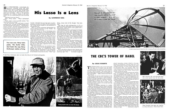 Article Preview: His Lasso Is a Lens, February 1948 | Maclean's