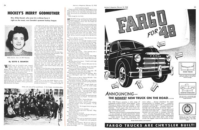Article Preview: HOCKEY'S MERRY GODMOTHER, February 1948 | Maclean's