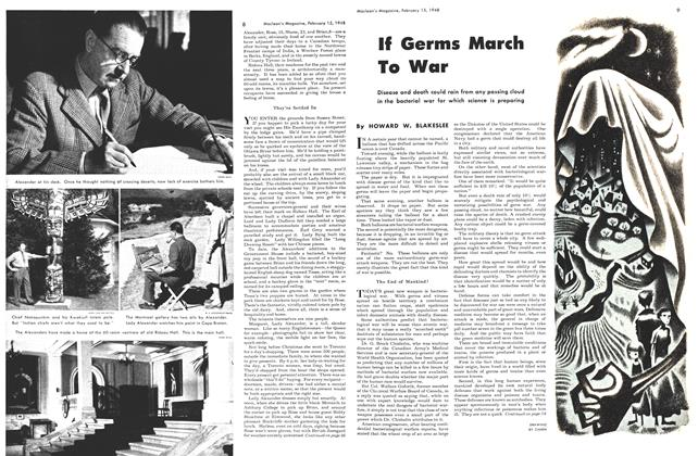 Article Preview: If Germs March To War, February 1948 | Maclean's