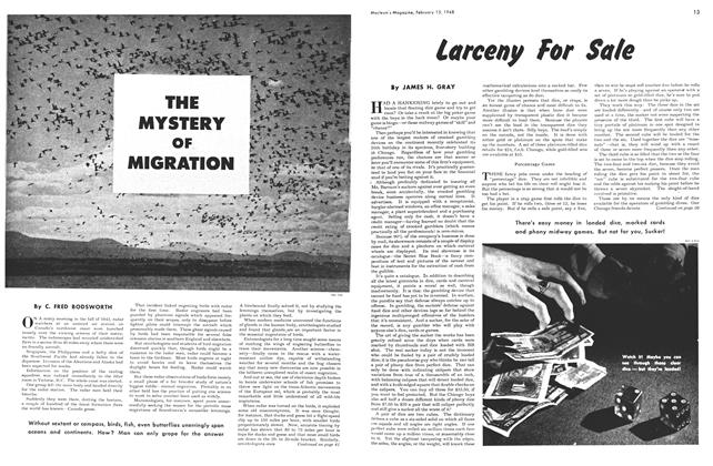 Article Preview: THE MYSTERY OF MIGRATION, February 1948 | Maclean's