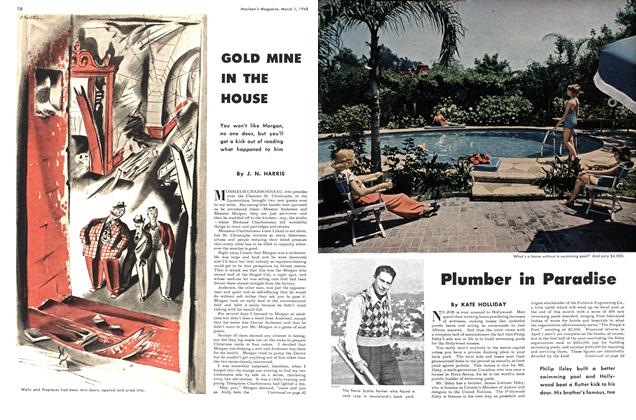 Article Preview: Plumber in Paradise, March 1948 | Maclean's