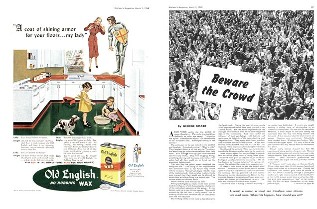 Article Preview: Beware the Crowd, March 1948 | Maclean's