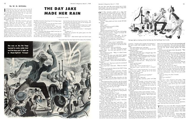 Article Preview: THE DAY JAKE MADE HER RAIN, March 1948 | Maclean's