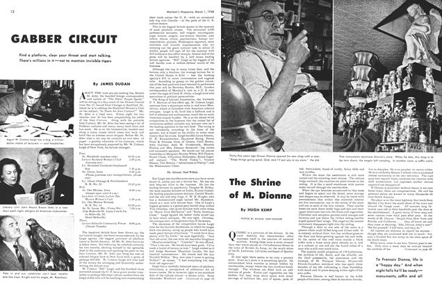 Article Preview: The Shrine of M. Dionne, March 1948 | Maclean's