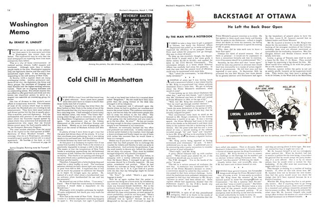 Article Preview: BACKSTAGE AT OTTAWA, March 1948 | Maclean's