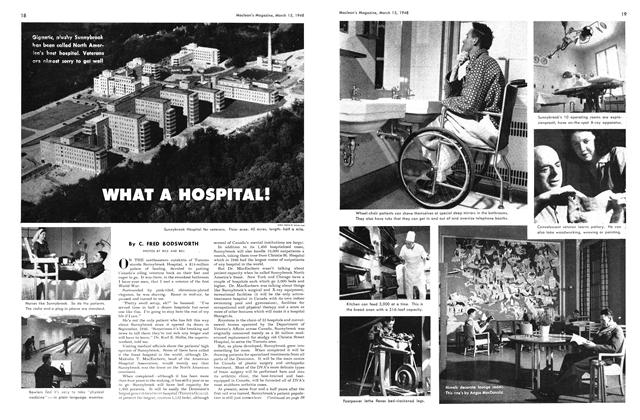 Article Preview: WHAT A HOSPITAL!, March 1948 | Maclean's