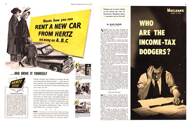 Article Preview: WHO ARE THE INCOME-TAX DODGERS?, March 1948 | Maclean's