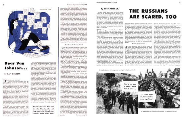 Article Preview: Dear Van Johnson..., March 1948 | Maclean's