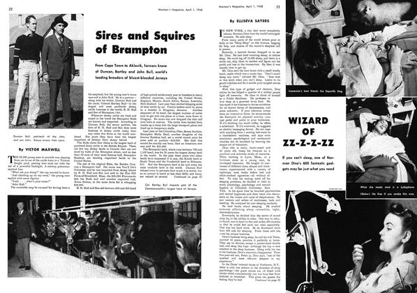 Article Preview: Sires and Squires of Brampton, April 1948 | Maclean's