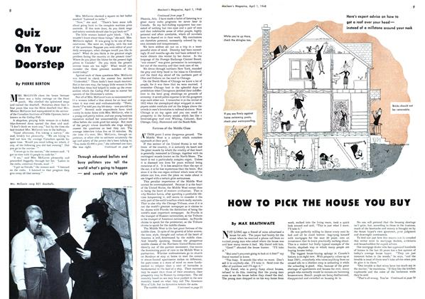 Article Preview: HOW TO PICK THE HOUSE YOU BUY, April 1948 | Maclean's