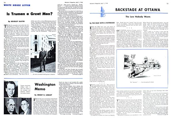 Article Preview: Is Truman a Great Man?, April 1948 | Maclean's
