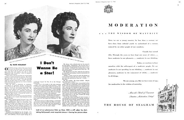 Article Preview: I Don't Wanna Be a Star!, April 1948 | Maclean's