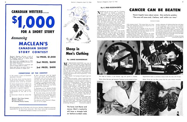 Article Preview: CANCER CAN BE BEATEN, April 1948 | Maclean's