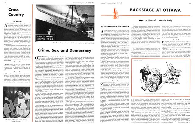 Article Preview: Crime, Sex and Democracy, April 1948 | Maclean's