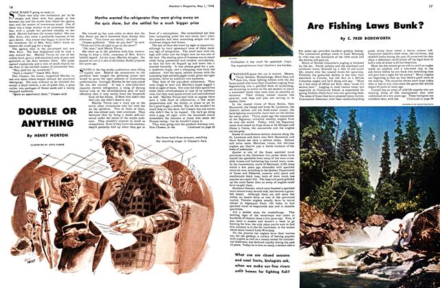Article Preview: Are Fishing Laws Bunk?, May 1948 | Maclean's