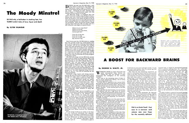 Article Preview: A BOOST FOR BACKWARD BRAINS, May 1948 | Maclean's