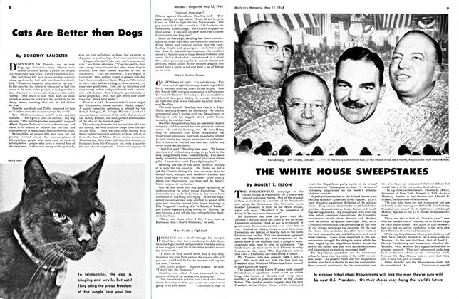 Article Preview: Cats Are Better than Dogs, May 1948 | Maclean's