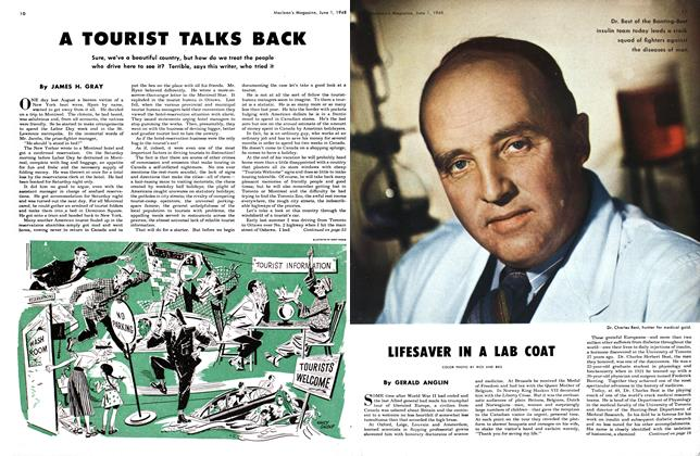Article Preview: LIFESAVER IN A LAB COAT, June 1948 | Maclean's