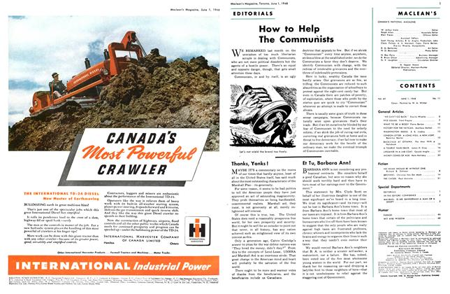 Article Preview: How to Help The Communists, June 1948 | Maclean's