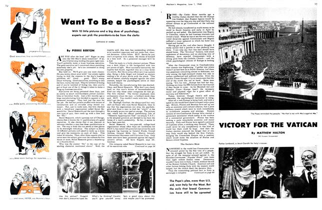 Article Preview: Want To Be a Boss?, June 1948 | Maclean's