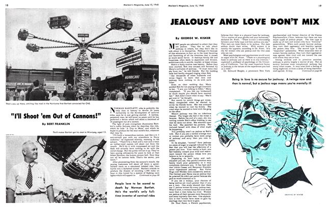 Article Preview: JEALOUSY AND LOVE DON'T MIX, June 1948 | Maclean's