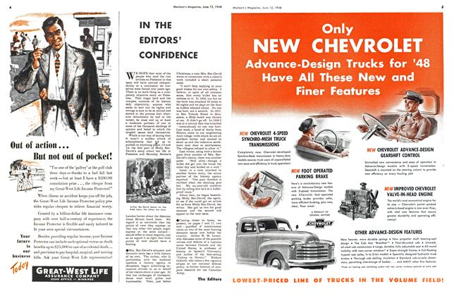 Article Preview: IN THE EDITORS' CONFIDENCE, June 1948   Maclean's
